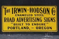 Irwin Hodson Stamped Metal